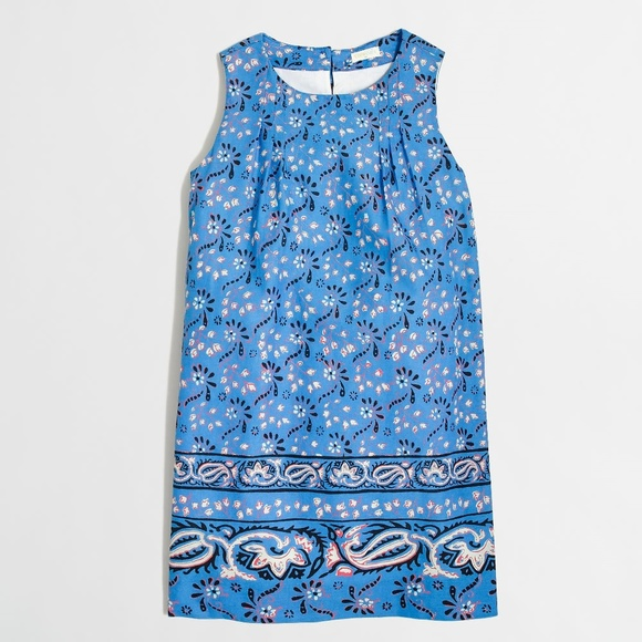 Crewcuts Other - CREWCUTS Blue Floral Girls' Printed Bow-Back Dress